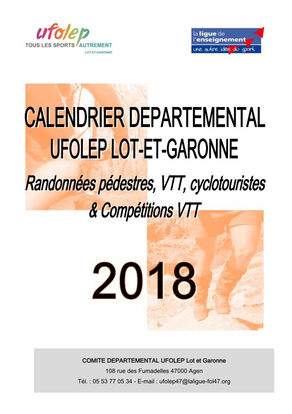 Calendrier Randonnee Pedestre Lot Et Garonne.Calendrier Departemental Ufolep Lot Et Garonne Randonnees